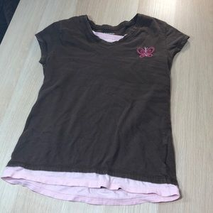 Brown and pink T-shirt